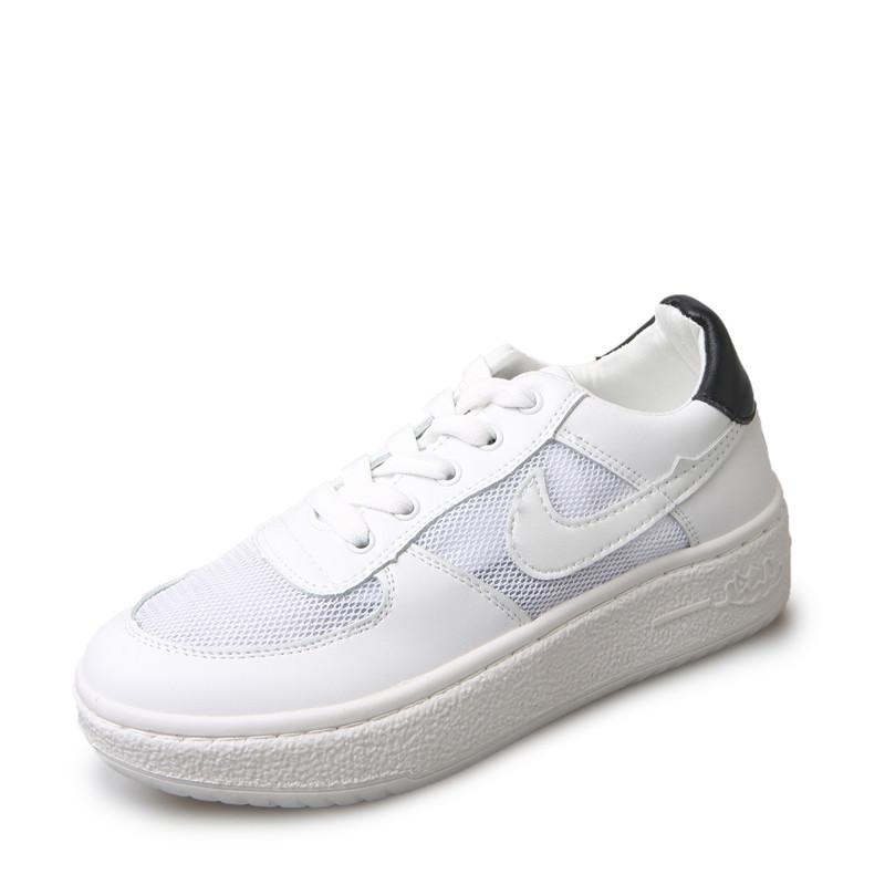 高品质运动鞋女鞋跑步鞋内增高网纱透气休闲登山鞋晨练轻便小白鞋