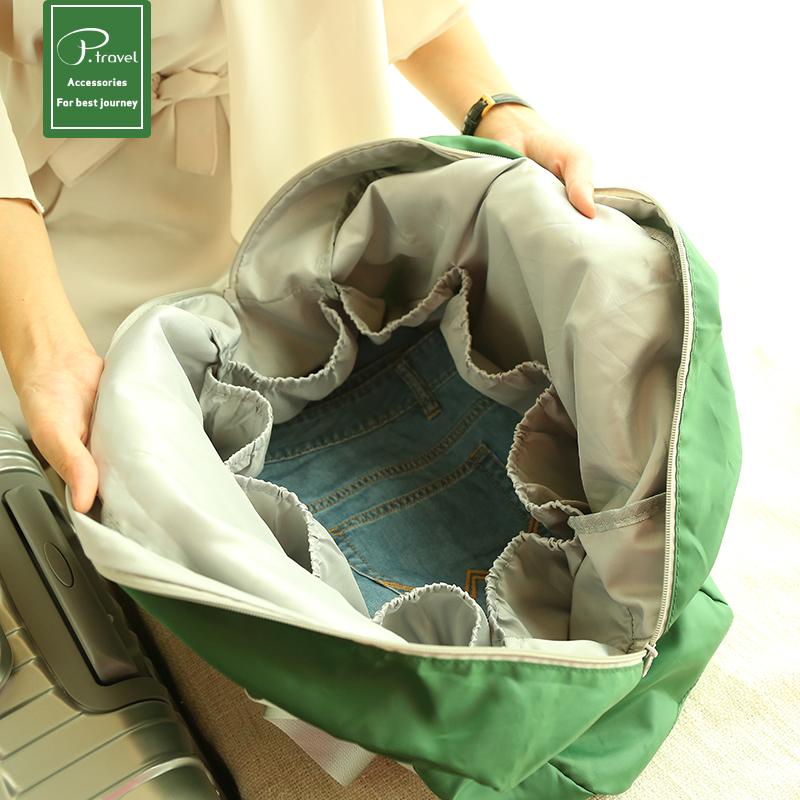短途摺疊包便攜旅行袋防水行李包可套拉桿多功能大容量登機收納袋