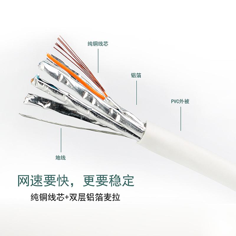 双喜鹊 6六类电脑网线千兆网络线成品跳线宽带线1m5m10m20m50米