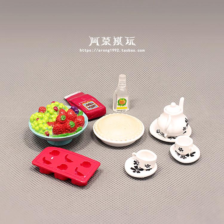 正版散货仿真迷你食玩 巧克力饼干马卡龙小蛋糕茶杯摆件模型玩具