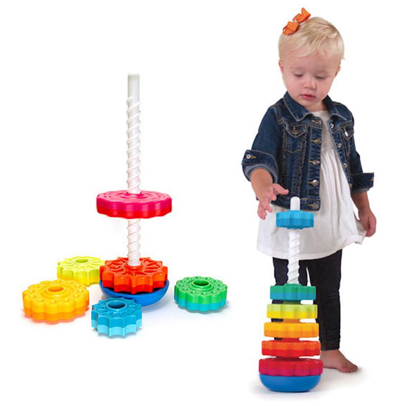 智库转转塔宝宝早教益智1-2-3岁儿童男孩女孩积木玩具趣味叠叠乐