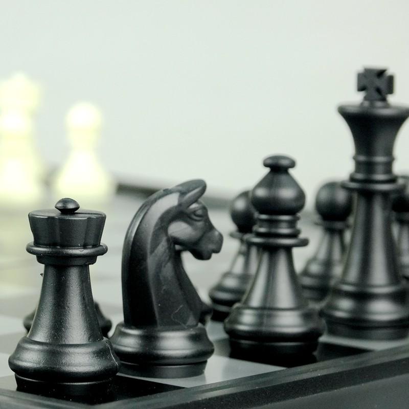 友邦磁性国际象棋 黑白棋子可折叠大号棋盘教学家庭聚会益智玩具