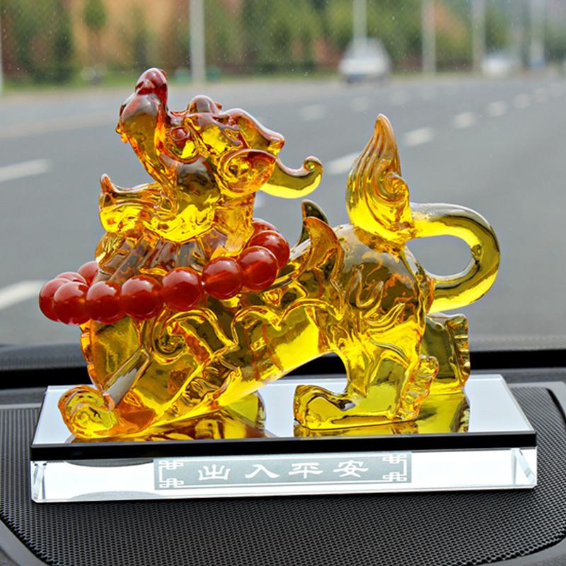 蓝轩汽车香水车载座式貔貅香水座车用摆件饰品车内用品除异味