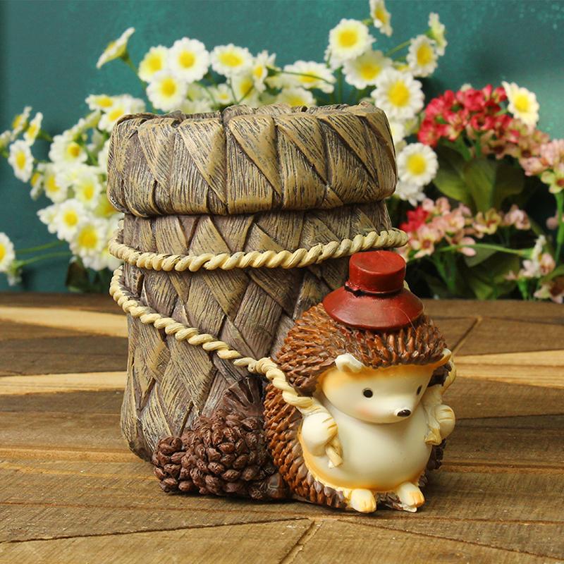 ins韩国创意时尚桌面收纳摆件可爱木质儿童笔筒小学生女生日礼物