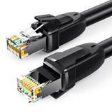 Green United cat8 optical broadband network cable home gaming eight Gigabit copper shield computer-based router 1 over 2 m