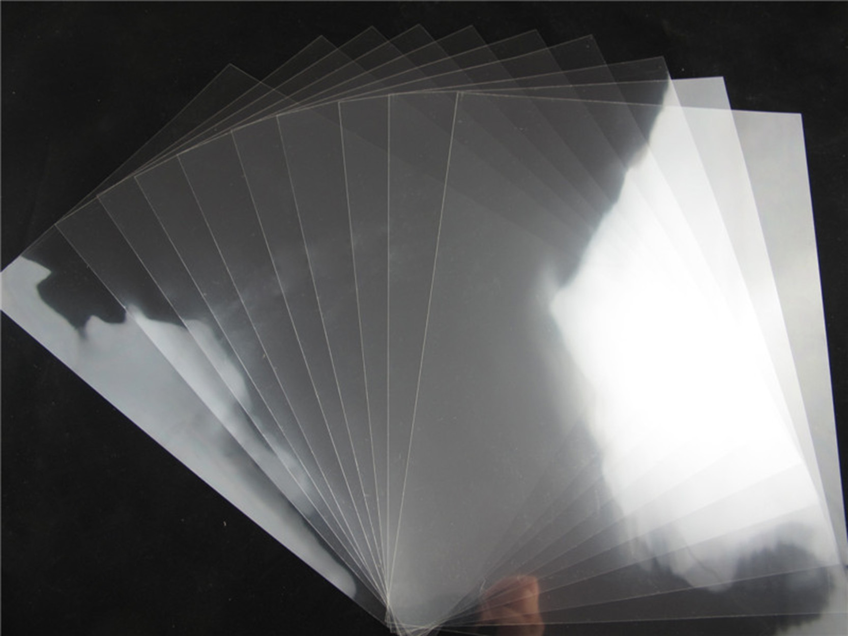pet超透双面胶贴玻璃亚克力胸牌高清手机壳高透明无痕无影胶膜3层