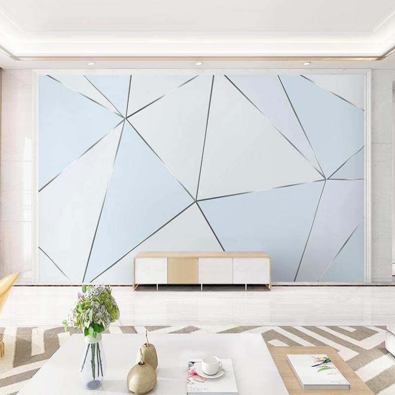 马蒂斯壁纸现代简约几何三角墙纸客厅电视背景墙北欧墙布无纺布