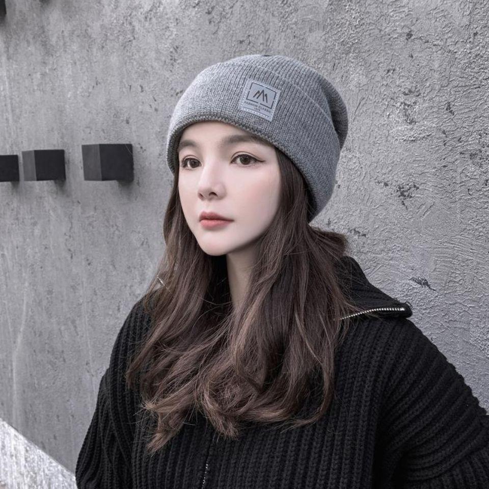 帽子假发一体短卷发秋冬天保暖包头帽堆堆帽针织帽长卷帽子假发套