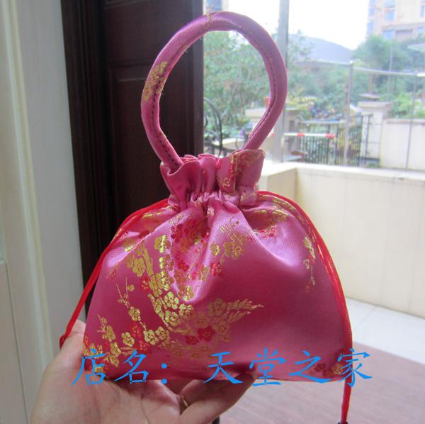 丝绸化装包礼品袋织锦缎抽包包袋手腕包小拎包钱包工艺喜糖喜蛋包