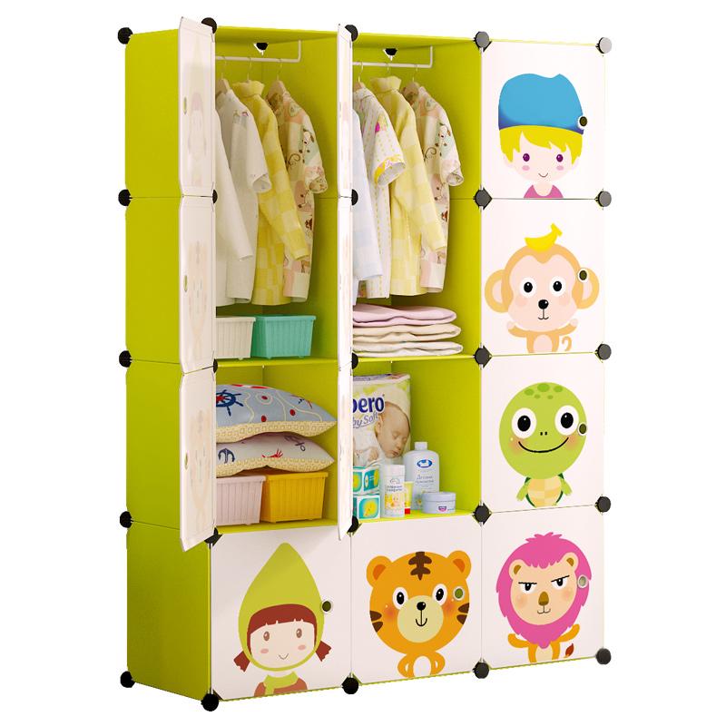 儿童简易衣柜宝宝塑料布组装婴儿简约现代经济型衣橱小孩收纳柜子