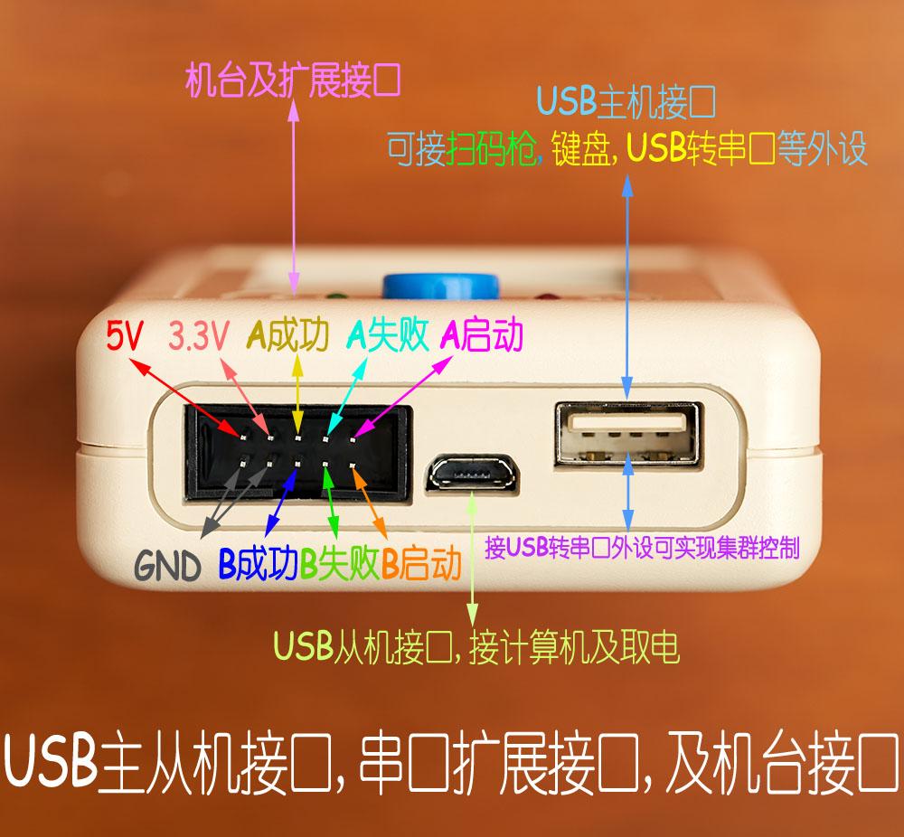 STM8STM32GD32MM32NRF5LPC8051FAVRN76HC32脱机烧录编程器下载器高清大图