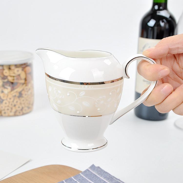 欧式骨瓷糖缸鱼翅燕窝碗炖盅创意家用调味调料罐美式糖罐奶缸荣华