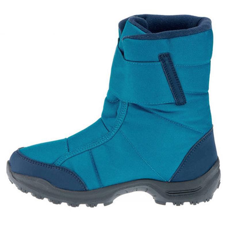 QUJR 保暖防水短靴棉靴 2018 迪卡侬儿童雪地靴女童男童靴子春秋童靴