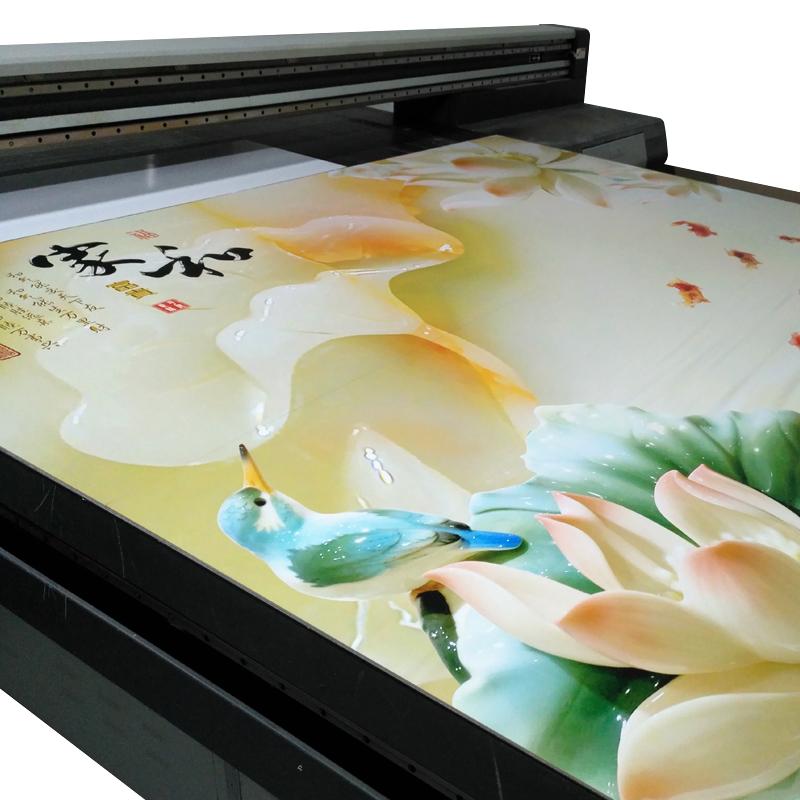 防水UV板电视背景墙仿3d装饰板客厅卧室微晶石家和富贵玉雕壁画