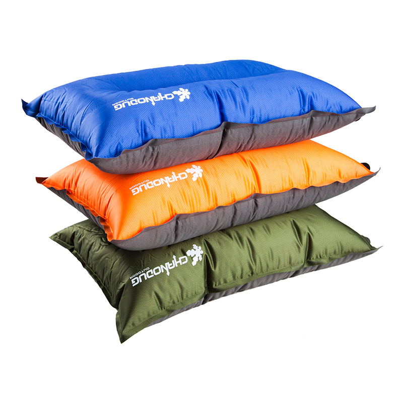夏諾多吉戶外自動充氣枕頭午休枕  行動式旅行枕可當坐墊靠背枕
