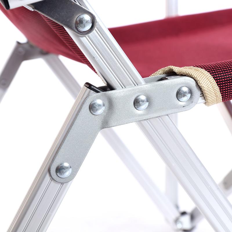 户外超轻铝合金折叠椅子靠背椅钓鱼筏钓椅休闲椅便携式午休椅躺椅