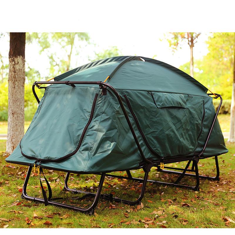 户外露营单人双人帐篷便携免搭多功能钓鱼离地帐篷床双层防潮防雨