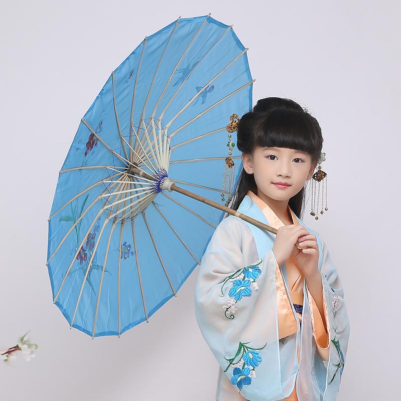 儿童油纸伞演出表演伞幼儿舞蹈伞女童跳舞舞台配件油纸伞古典舞伞