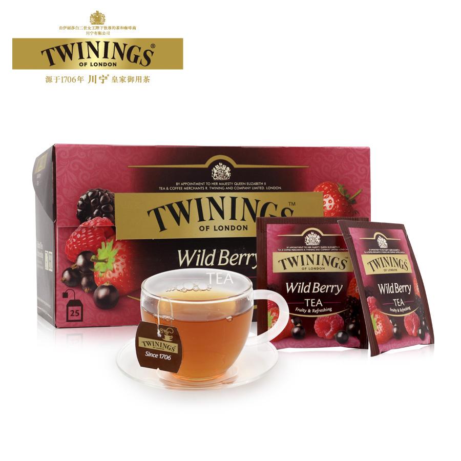 Twinings综合野莓果香红茶包25袋