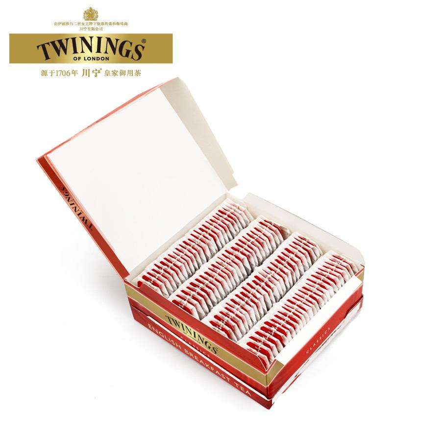 进口阿萨姆红茶茶包 片红茶包 100 英国川宁英式早餐红茶