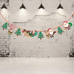 挂饰装饰品毛毡布挂旗拉旗圣诞节吊旗店内彩带店面装饰布置吊饰