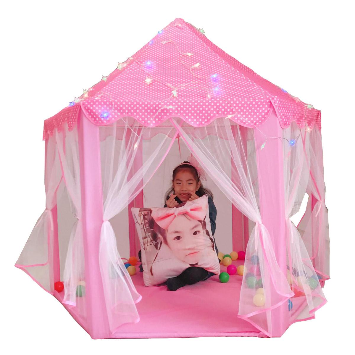 韩国六角公主城堡超大薄纱儿童帐篷玩具屋超大游戏房防蚊益智帐篷