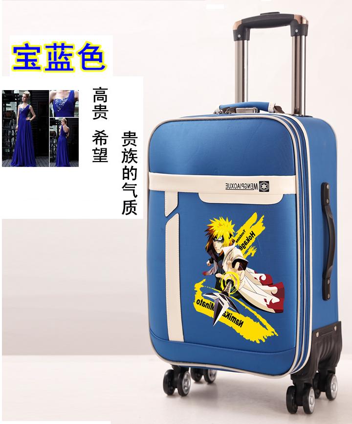 动漫火影忍者鸣人宇智波学生男女旅行拉杆行李箱密码登机手拖箱子