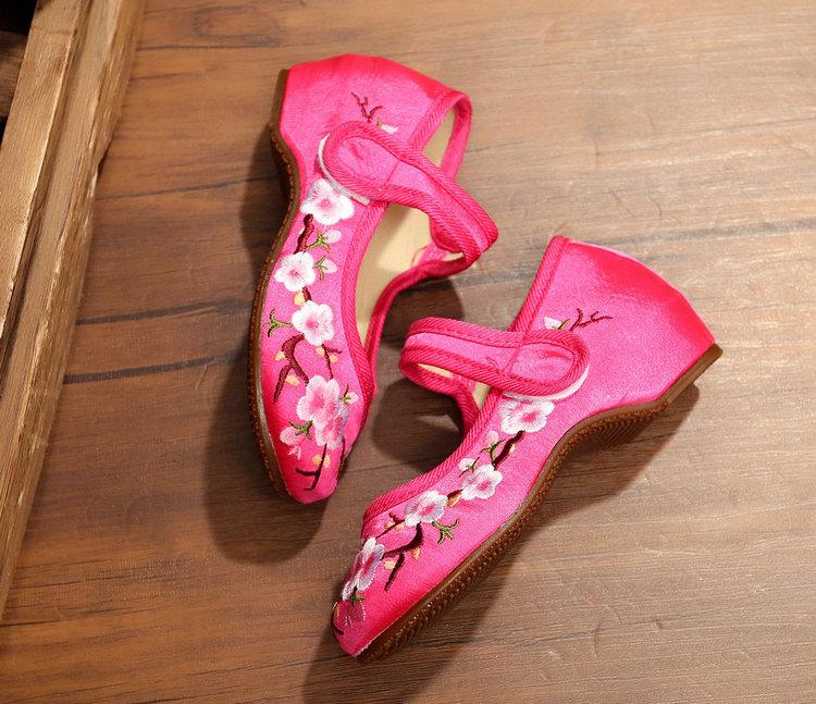 老北京布鞋儿童绣花鞋女2017民族风儿童布鞋女童公主舞蹈鞋休闲鞋