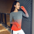Fitness girl slim striped quick-drying sports top 2020 new long-sleeved running high-elastic yoga t-shirt autumn and winter