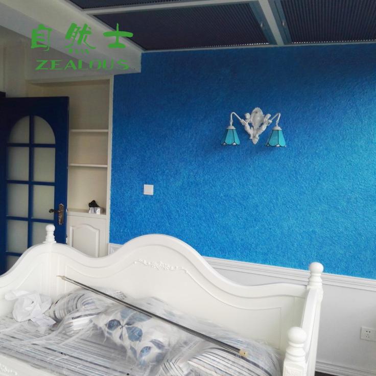 电视背景墙纸3D立体植绒浮雕感客厅卧室壁纸纯色墙衣纤维涂料