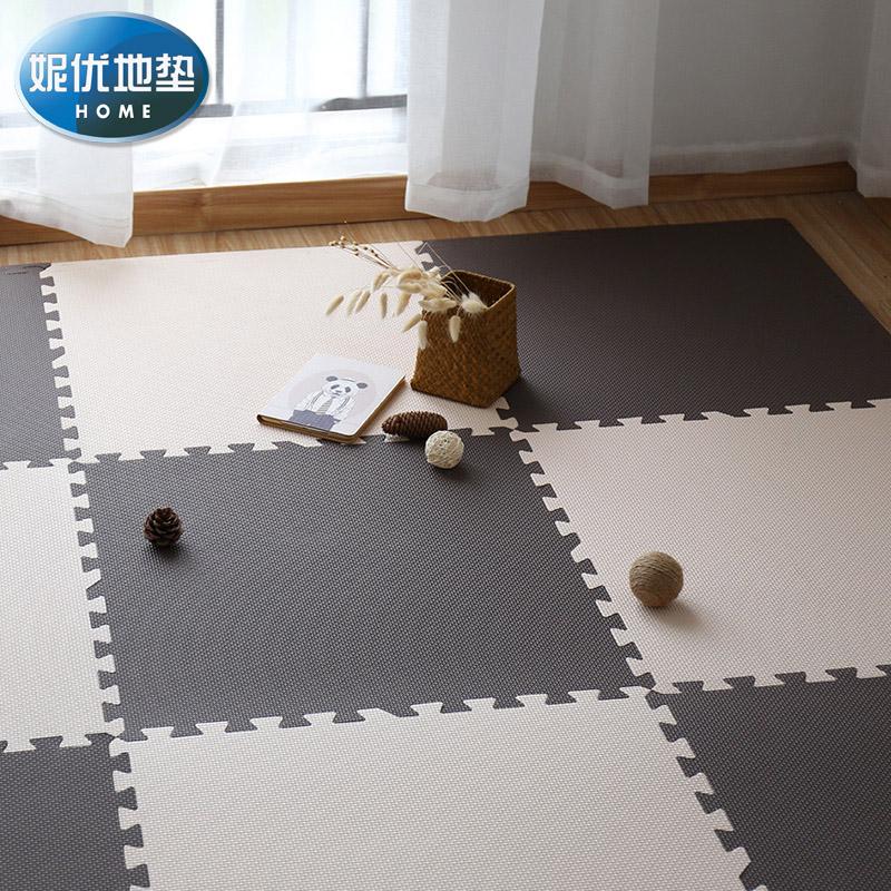 防水宿舍拼接泡沫地墊 寢室鋪地板軟墊子大號塑料拼圖爬行墊60x60