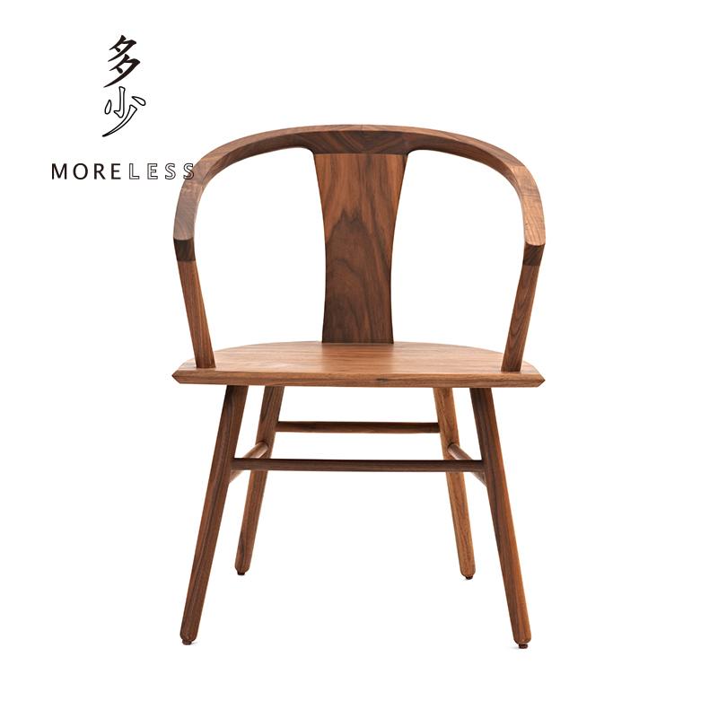 多少Moreless新中式实木秋餐椅子成人设计师家具简约现代餐厅茶室