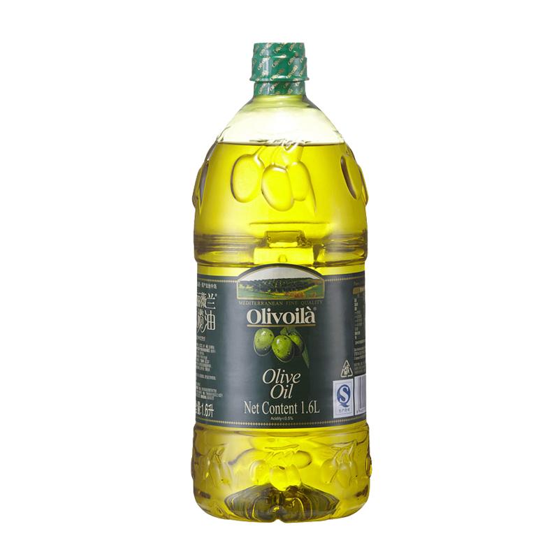 欧丽薇兰 橄榄油1.6L/桶 食用油 冷榨工艺 原油进口