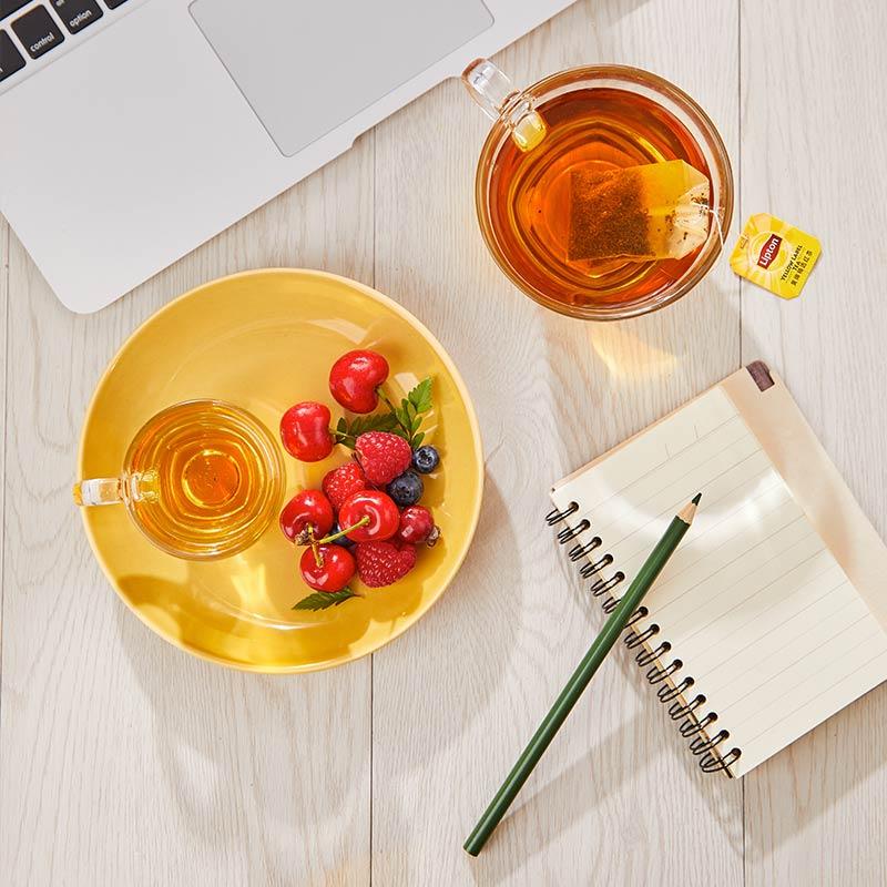 红茶茶叶包 盒 400g 袋泡茶叶茶包 立顿黄牌精选红茶 Lipton
