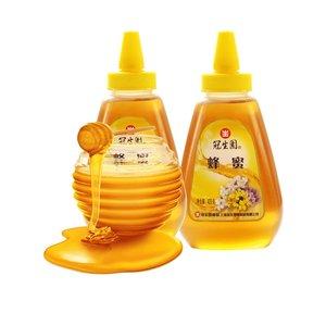 冠生园 百花蜂蜜428g*2瓶百花蜜适冲饮 蜂制品尖嘴瓶