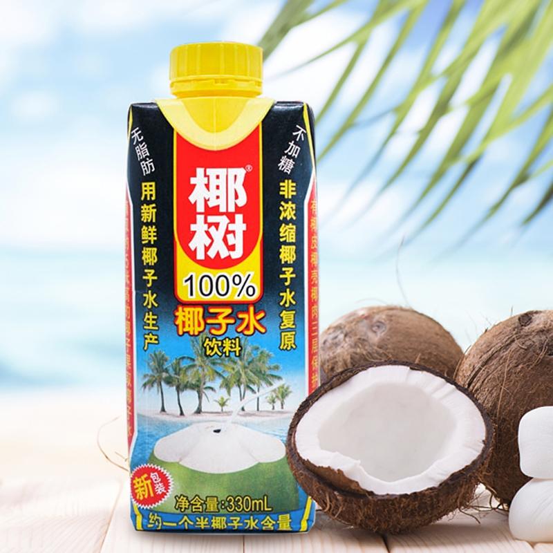猫超次日达,海南特产:椰树牌 椰汁 330mlx24盒