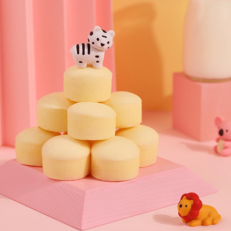 [详情领券]港荣小小蒸蛋糕牛奶香草320g整箱早餐面包儿童糕点零食 No.4
