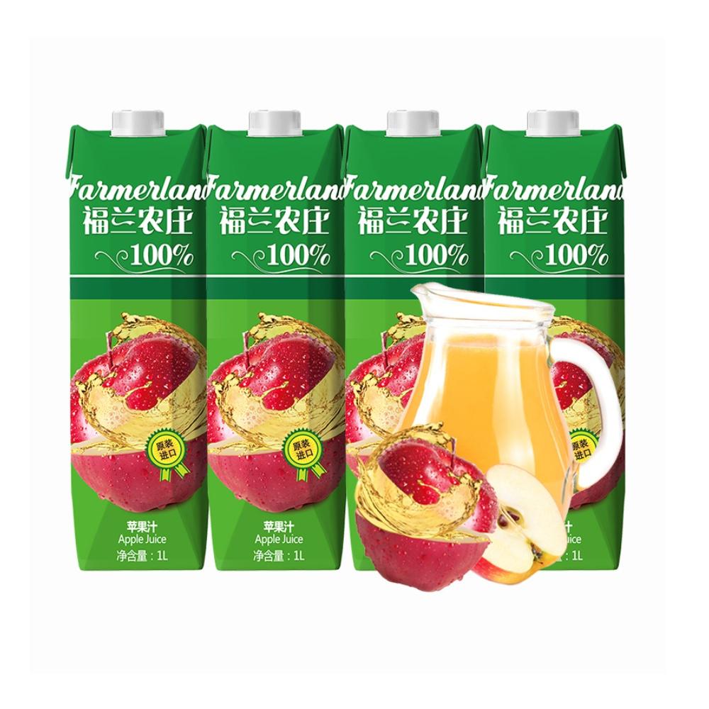 进口希腊原装进口福兰农庄苹果汁1L*4