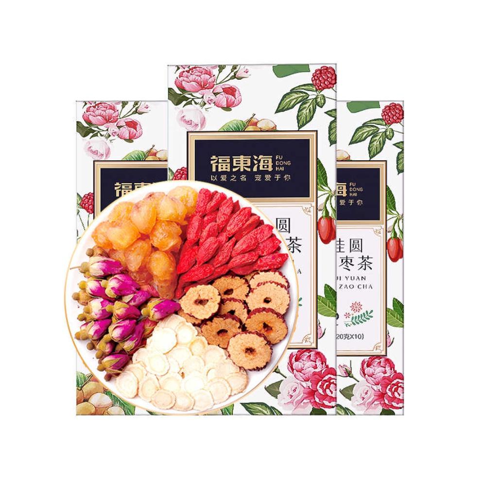 盒水果茶五宝茶八宝茶女人养生茶 X3 福东海人参桂圆枸杞茶玫瑰花茶