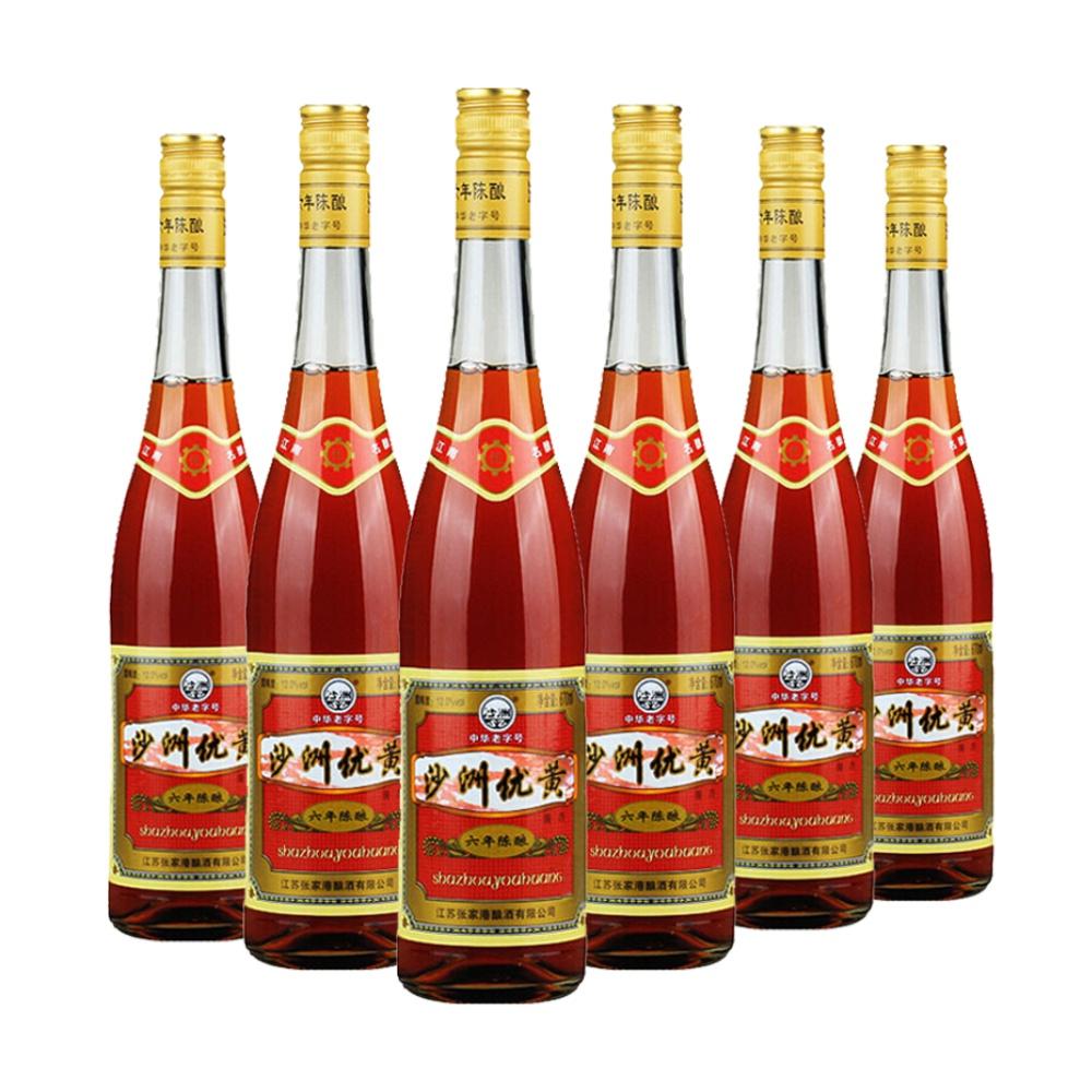 整箱装 瓶 6 670ml 度 12 沙洲优黄江南名酿六年陈黄酒半干型