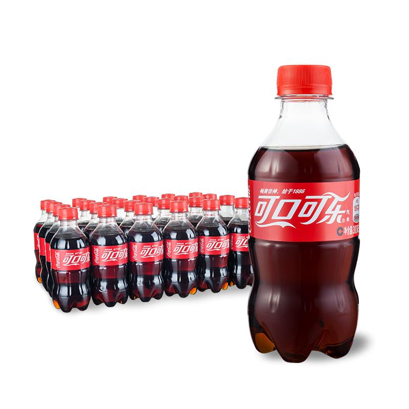 可口可乐 300ml*24瓶/箱 整箱装 原装口味可口可乐出品饮料