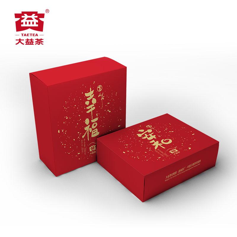 中华老字号生熟组合礼盒 批 1901 2 200g 大益普洱茶幸福安和
