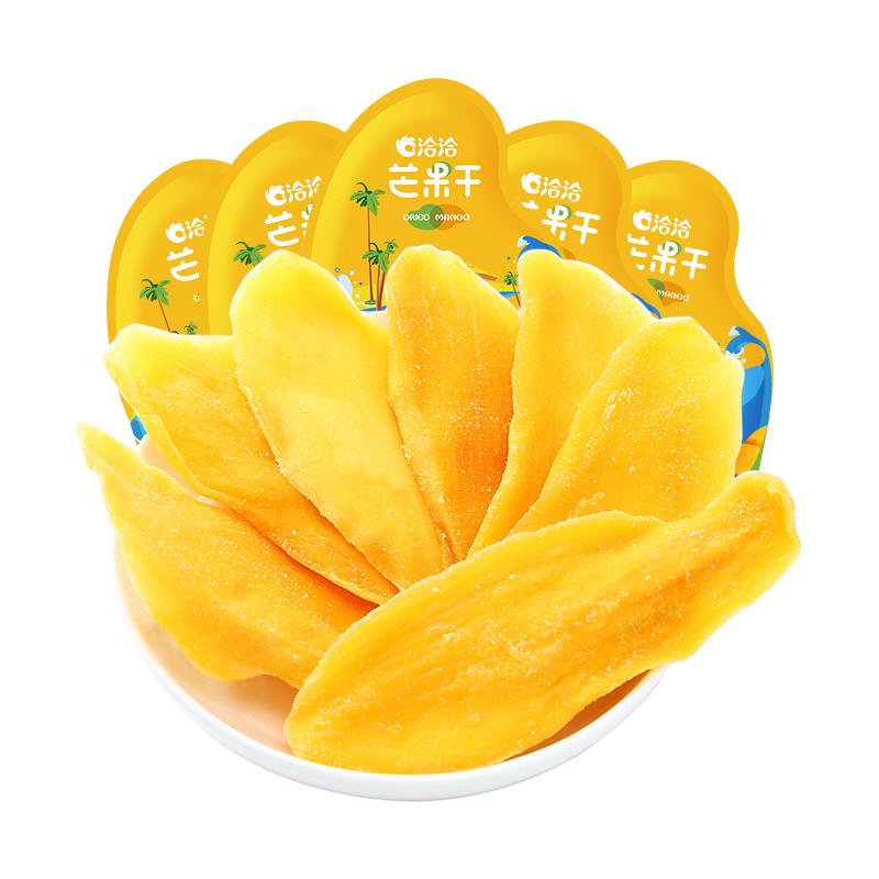 袋果干休闲零食恰恰水果芒果干 5 100g 洽洽芒果干 袋 元 6.8 仅需