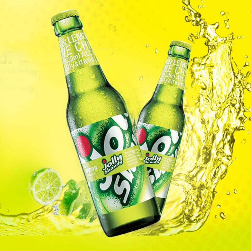 24 瓶嘉士伯官方柠檬果味低醇啤酒整箱 JollyShandy 330ml 怡乐仙地