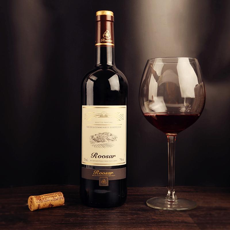 支赠酒具 6 红酒整箱法国葡萄酒原瓶进口罗莎田园干红整箱