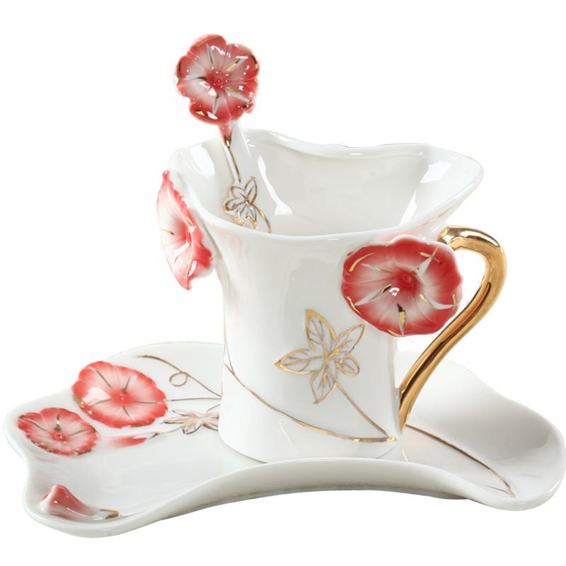 陶瓷咖啡杯碟勺创意结婚生日礼物欧式骨瓷红茶杯子教师节情人礼品