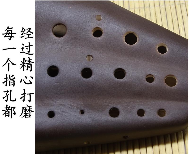 调进阶陶笛考级专用 C 素烧专业演奏款三管中音 AC 管 3 风雅陶笛