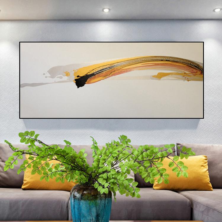 客厅原创装饰画油画抽象画简约极简金色现代写意高档手绘挂画热卖