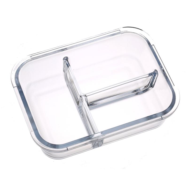 玻璃饭盒便当盒上班族学生保温饭盒分隔型保鲜盒碗微波炉加热饭盒
