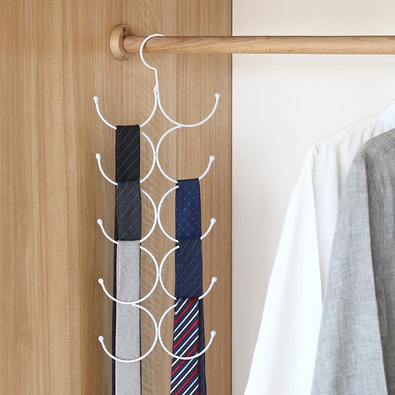 多功能挂围巾架家用收纳神器领带丝巾架子皮带丝袜挂架圈圈环衣架主图